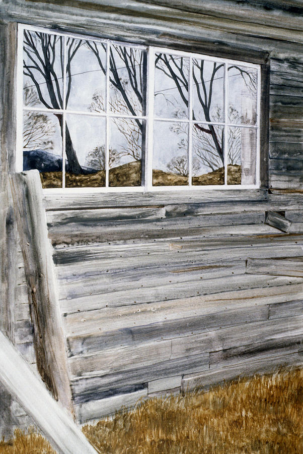 Antique Barn Painting - Barn Reflection by Karol Wyckoff