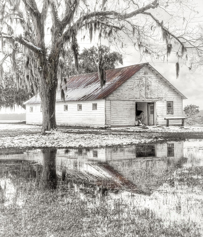 Barn Reflection Photograph  - Barn Reflection Fine Art Print
