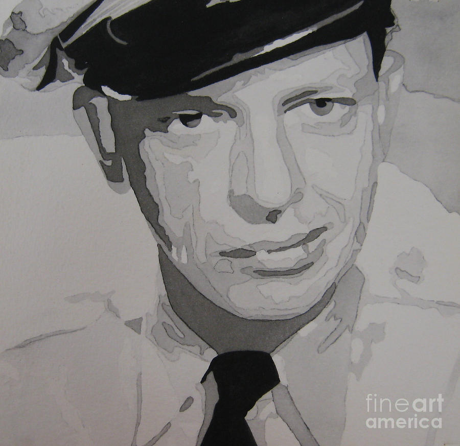 Andy Griffith Show Painting - Barney Fife Contrast by Jules Wagner