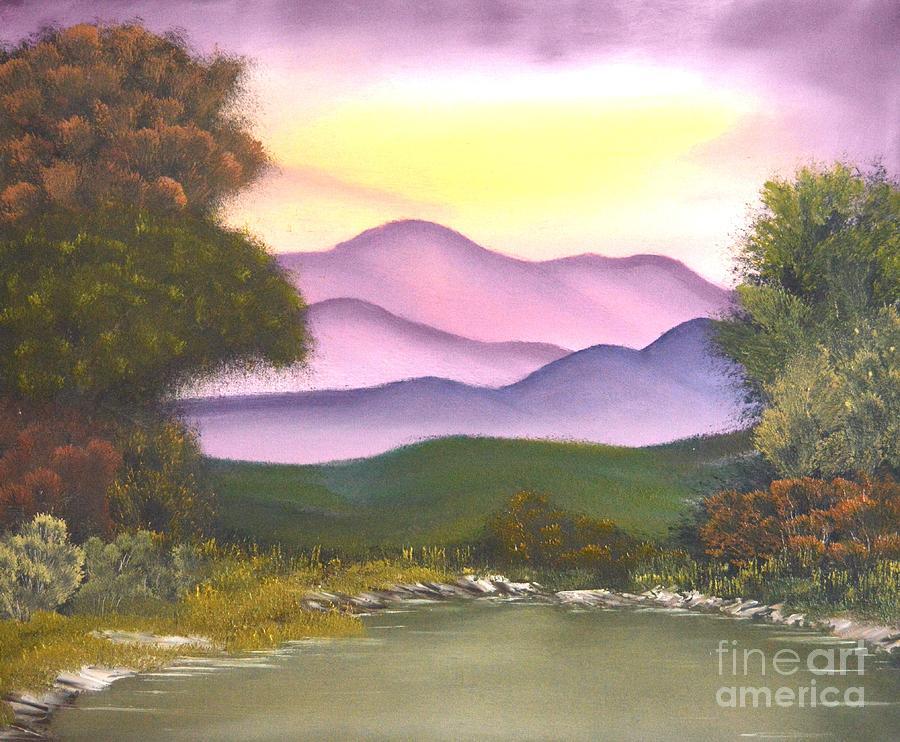 Barney Painting