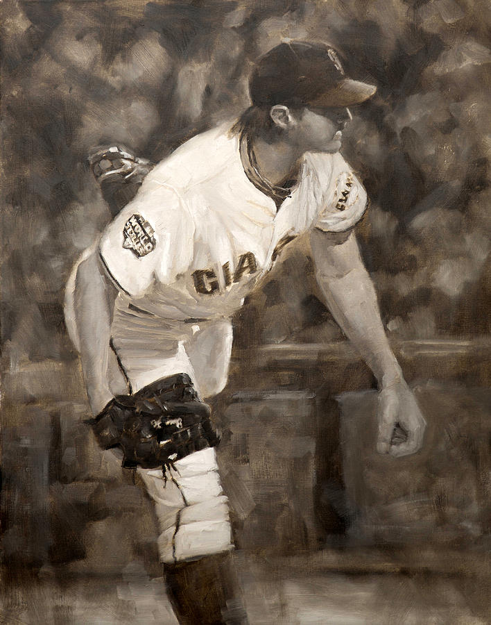 Barry Zito Painting - Barry Zito - Redemption by Darren Kerr