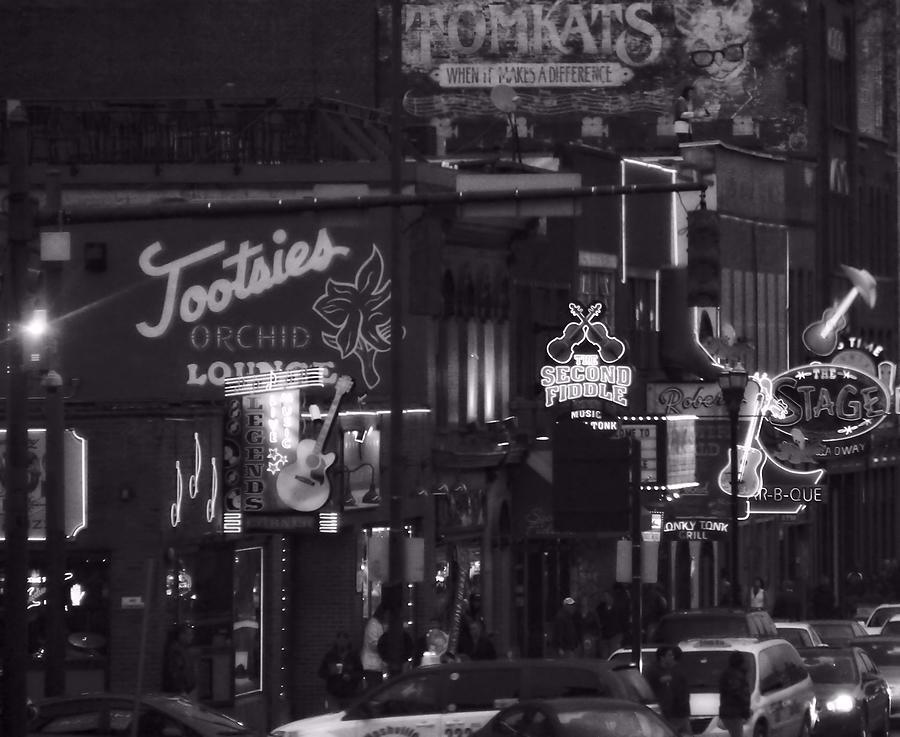 Bars On Broadway Nashville Photograph - Bars On Broadway Nashville by Dan Sproul