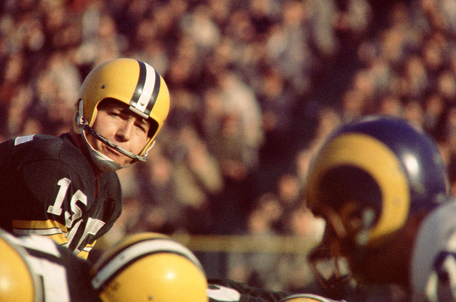 Marvin Newman Photograph - Bart Starr Looks  by Retro Images Archive