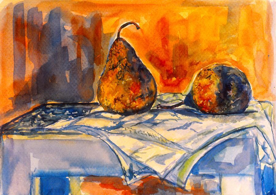 Kendall Kessler. Pear Paintings Painting - Bartlett Pears by Kendall Kessler