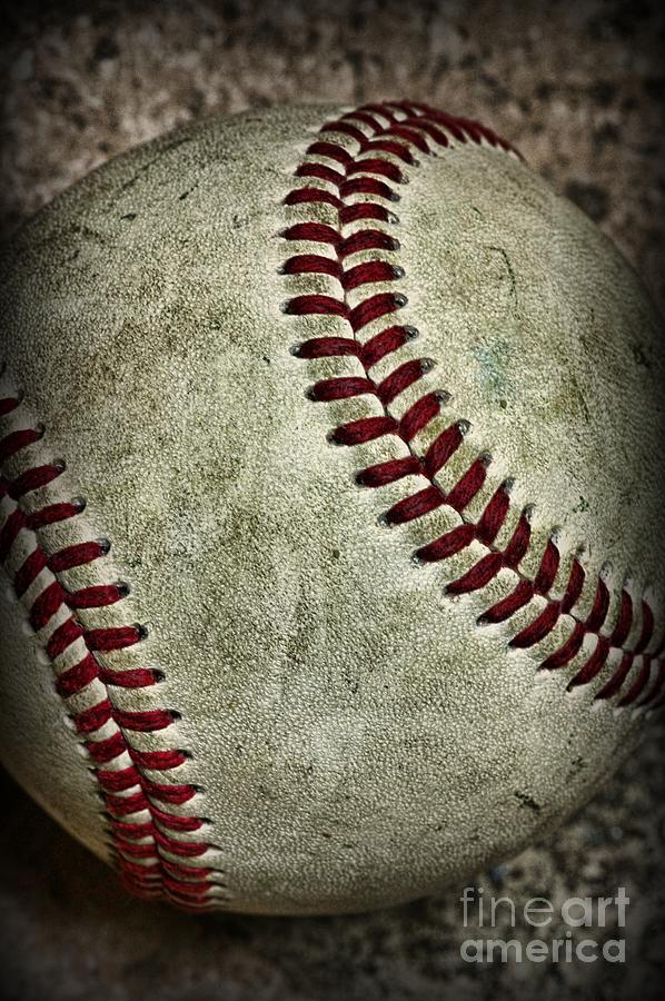 Paul Ward Photograph - Baseball - A Retired Ball by Paul Ward