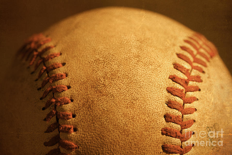 Baseball Closeup Showing Stitches And Seams With Dirt Photograph By ELITE IMAGE Photography By