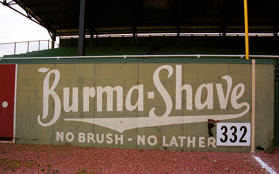 Baseball Field Burma Shave Sign Photograph