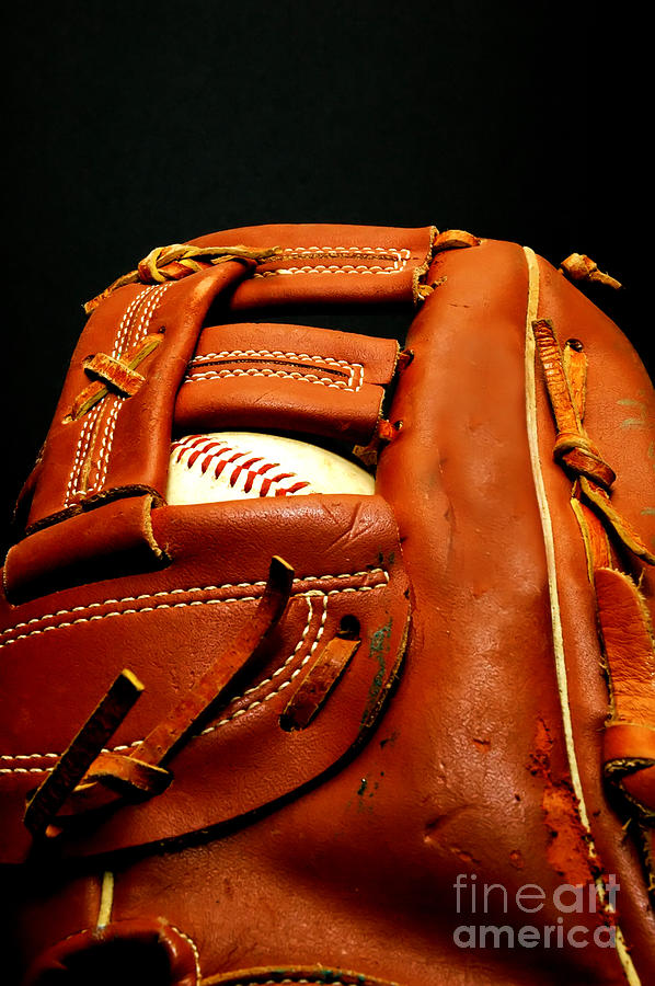 Baseball Glove Photograph - Baseball Glove With Ball by Danny Hooks