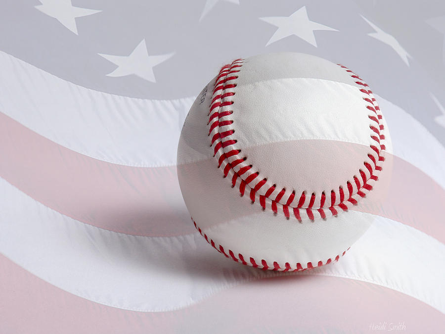 America Photograph - Baseball by Heidi Smith