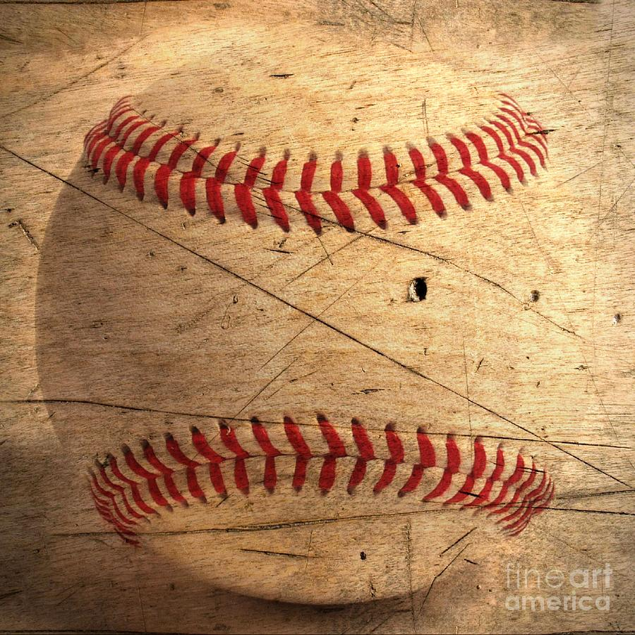 Baseball Digital Art  - Baseball Fine Art Print