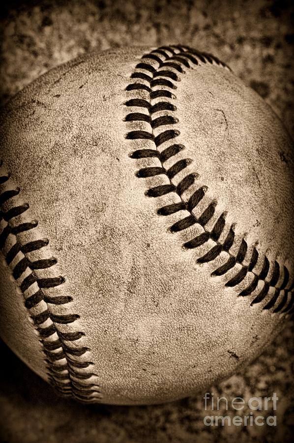Baseball Old And Worn Photograph