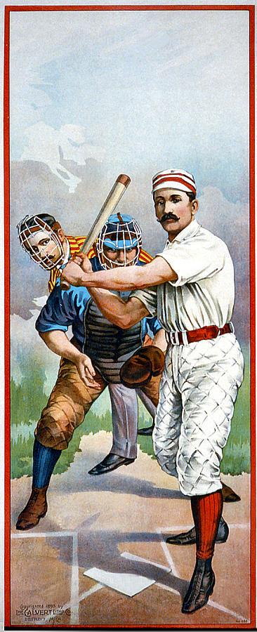 Baseball Player At Bat Digital Art
