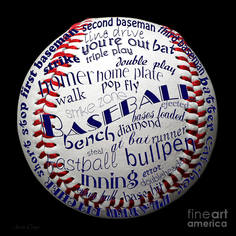 Baseball Terms Typography 1 Digital Art