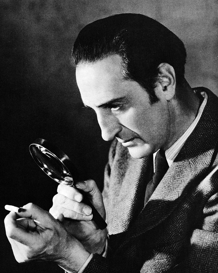Basil Rathbone In Sherlock Holmes And The Voice Of Terror  Photograph
