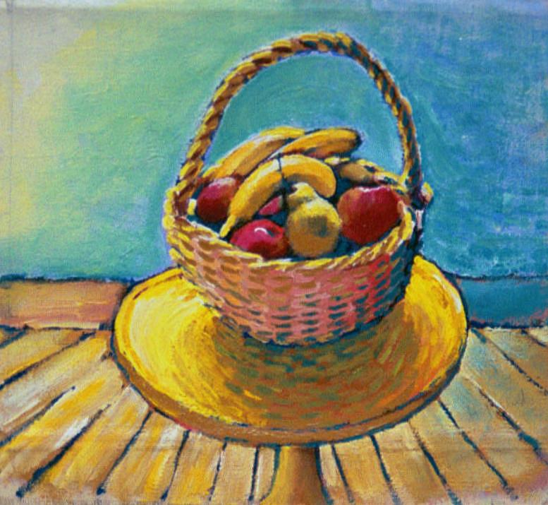 Basket Of Fruit--belgium Painting