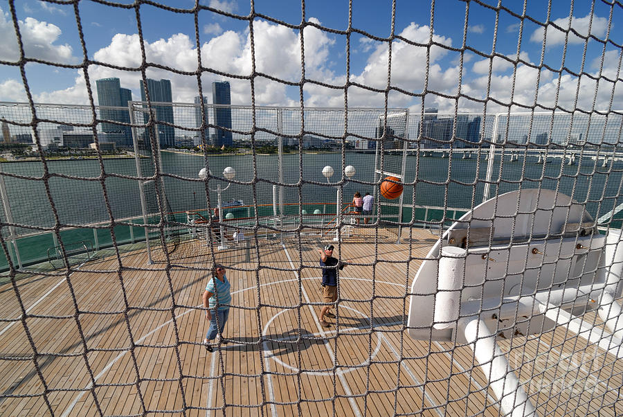 Basketball Court On Cruise Ship Photograph