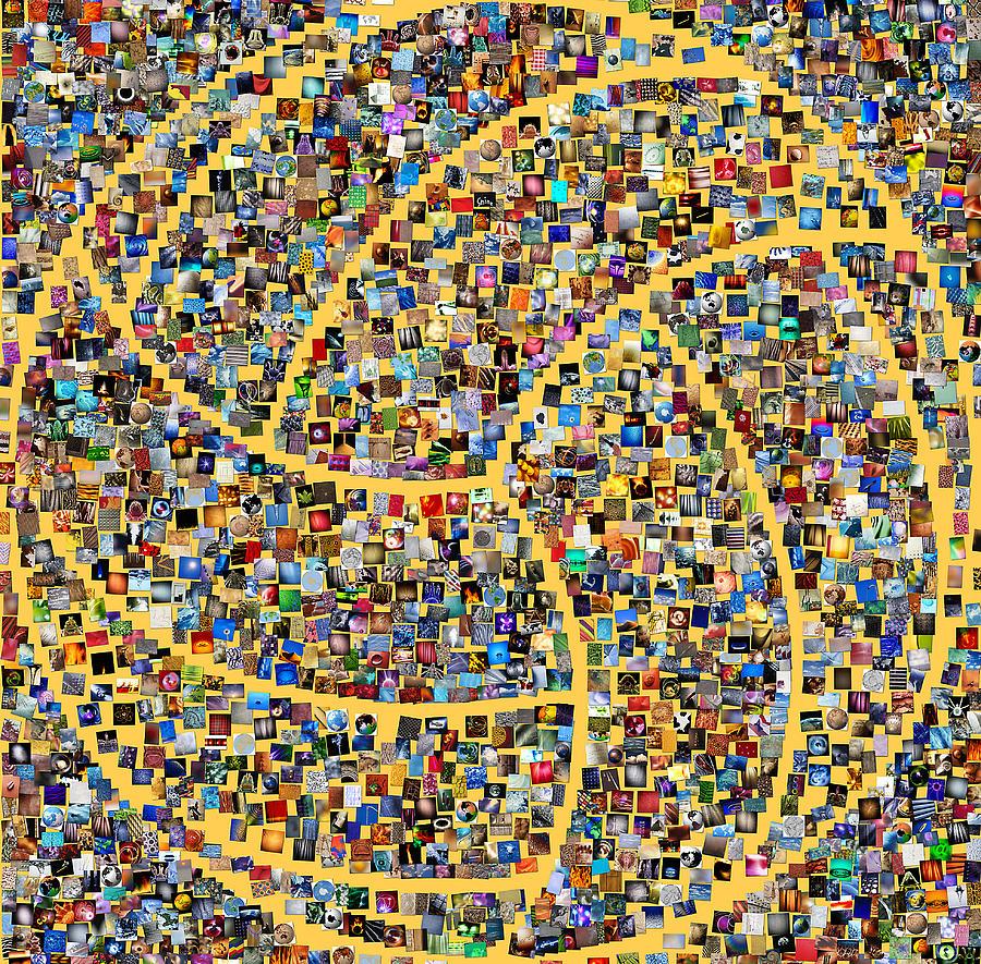 Basketball Digital Art - Basketball Mosaic by Yury Malkov