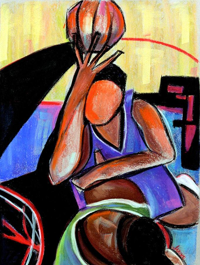 Basketball Practice Painting  - Basketball Practice Fine Art Print