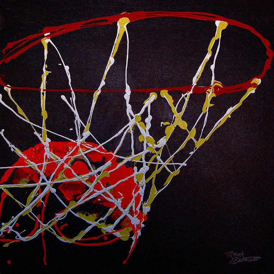 Basketball Painting - Basketball by Tracey Bautista