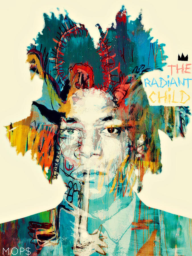 Basquiat The Radiant Child Digital Art  - Basquiat The Radiant Child Fine Art Print
