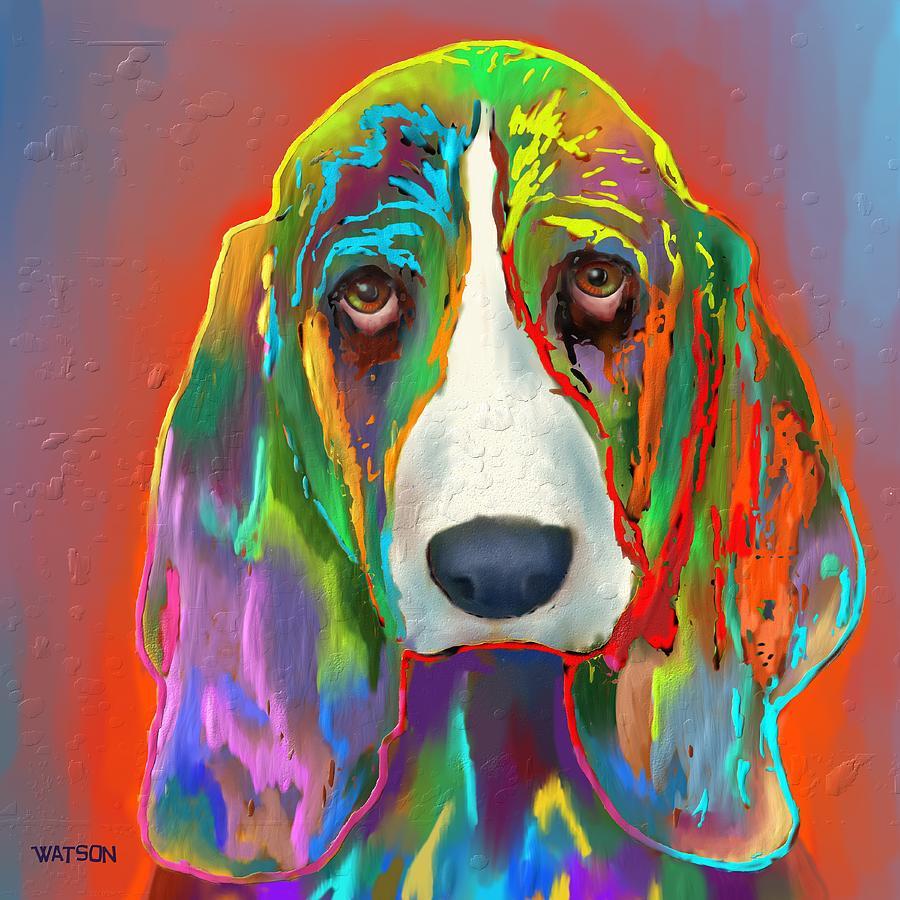 Basset Hound Digital Art