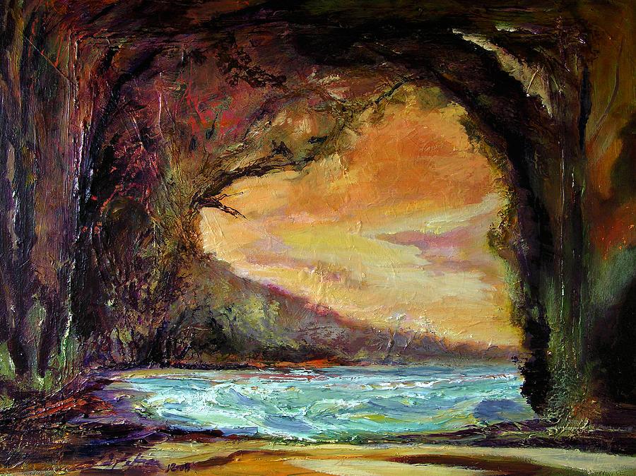 Bat Cave St. Philip Barbados 12-08 Julianne Felton Painting