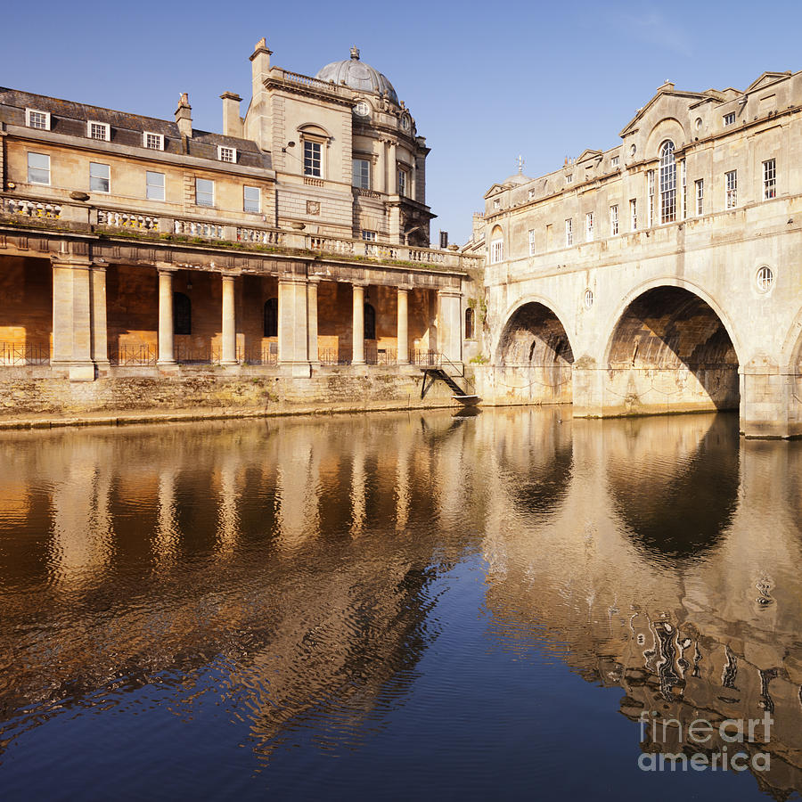 Bath Pulteney Bridge And Colonnade Bath Photograph