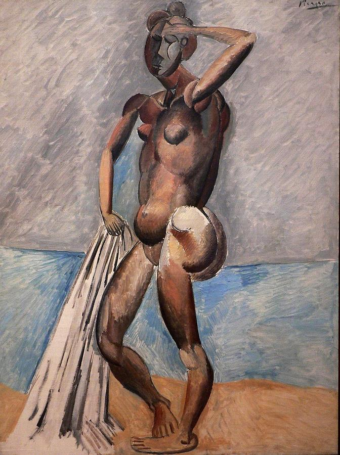 Pablo Picasso Painting - Bather by Pablo Picasso