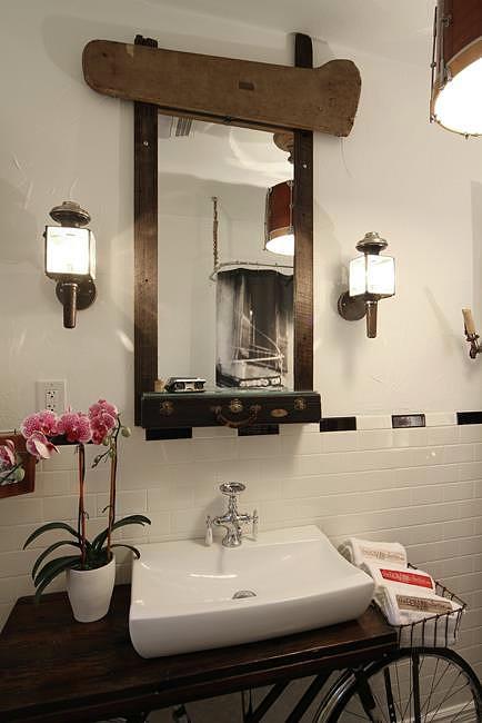 Bathroom Mirror 01 Mixed Media