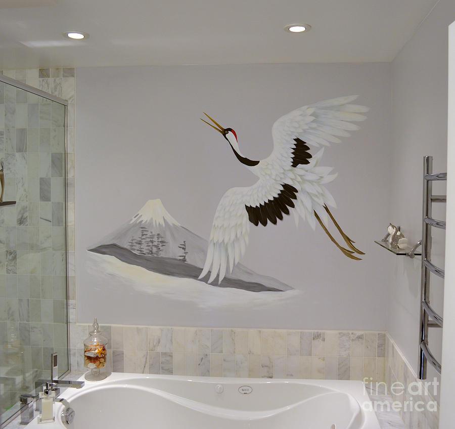 Bathroom mural 2017 grasscloth wallpaper for Bathroom mural wallpaper