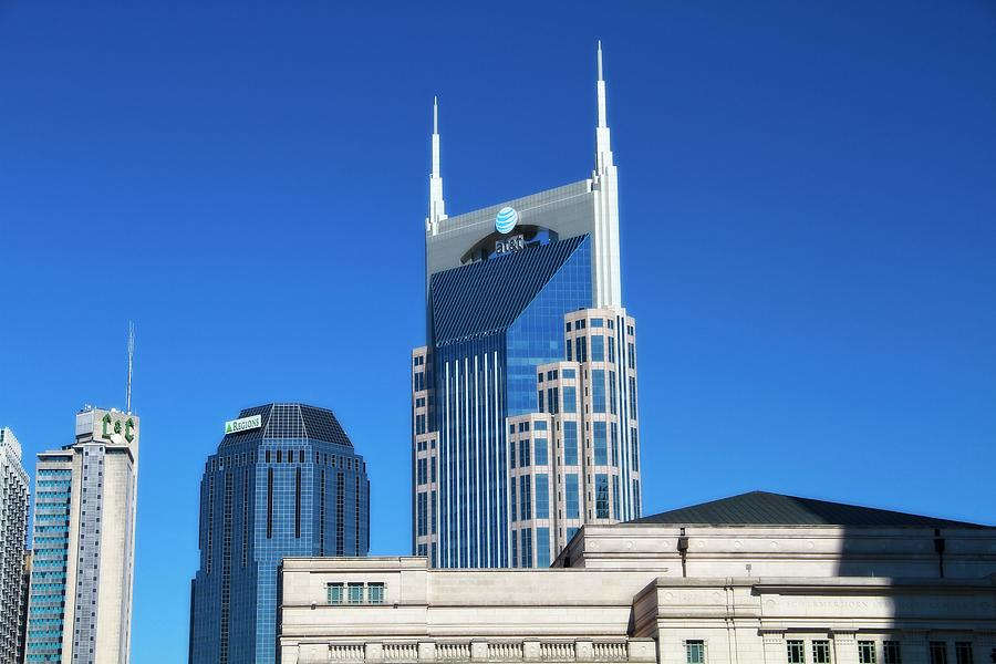 Batman Building And Nashville Skyline Photograph