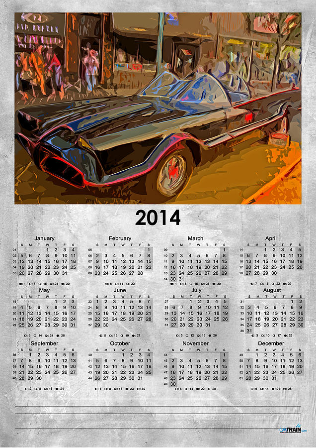 Batman Car 2014 Planner Photograph  - Batman Car 2014 Planner Fine Art Print