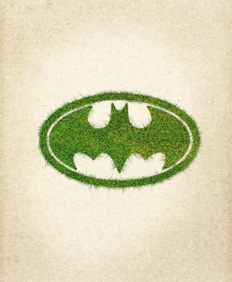 Batman Grass Logo Drawing