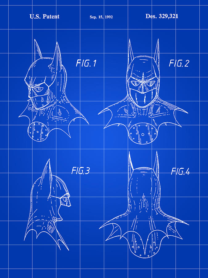 Batman Patent Digital Art
