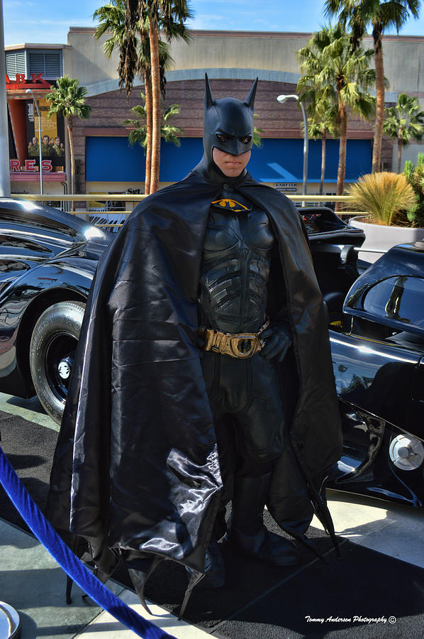 Batmobile And Batman Photograph