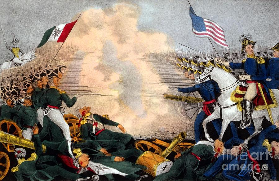 Battle Of Buena Vista Mexican-american Photograph