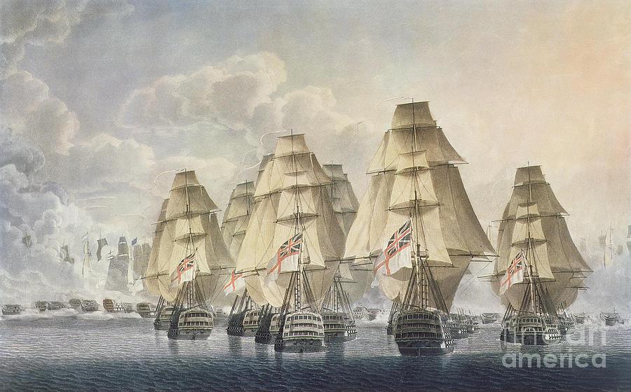 Battle Of Trafalgar Painting