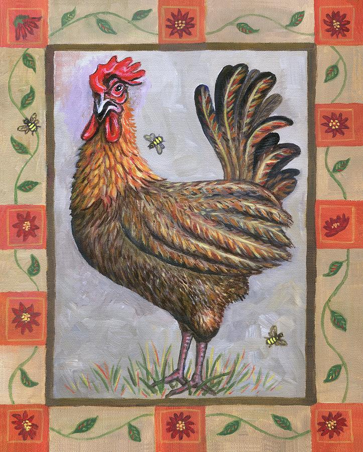 Baxter The Rooster Painting