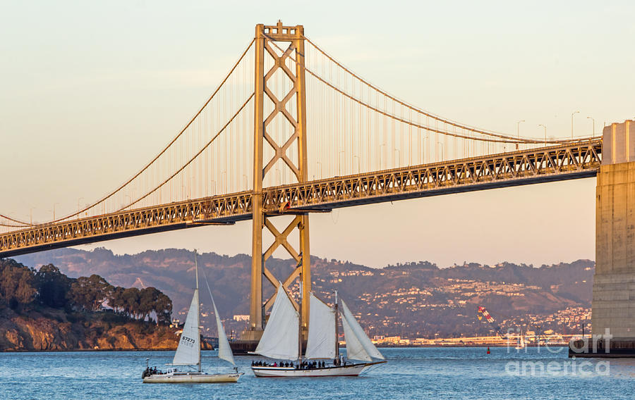 Bay Bridge Gold Photograph  - Bay Bridge Gold Fine Art Print