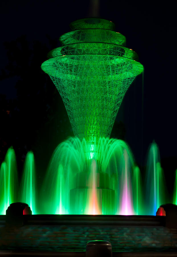 Bayliss Park Fountain Green Photograph  - Bayliss Park Fountain Green Fine Art Print