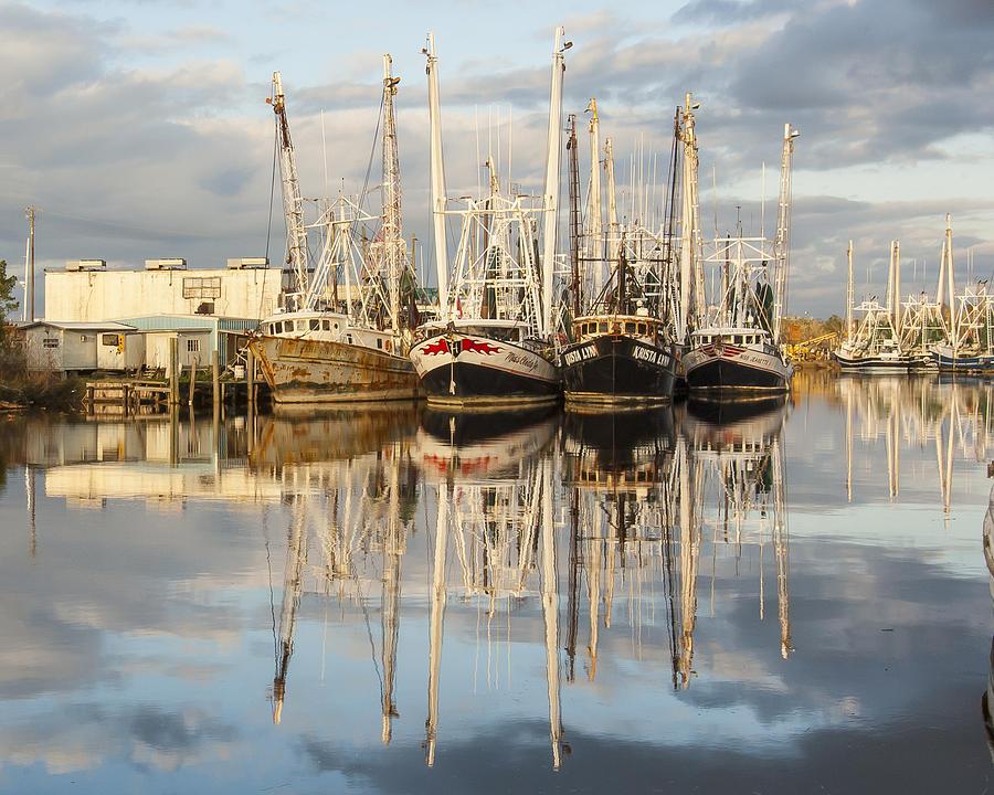 Alabama Photograph - Bayou Labatre Shrimp Boat Reflections 22 by Jay Blackburn