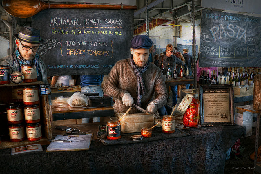 Amsterdam Market Photograph - Bazaar - We Sell Tomato Sauce  by Mike Savad