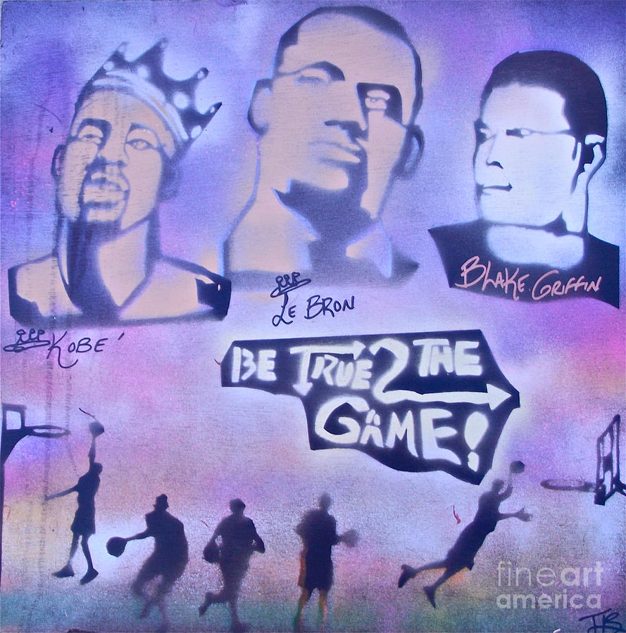 Be True 2 The Game 1 Painting  - Be True 2 The Game 1 Fine Art Print