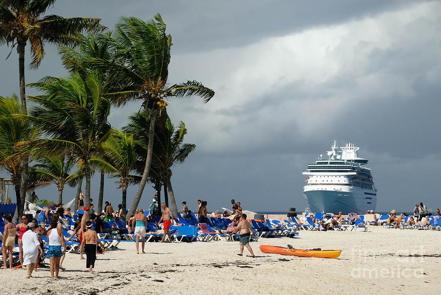 Beach At Coco Cay Photograph