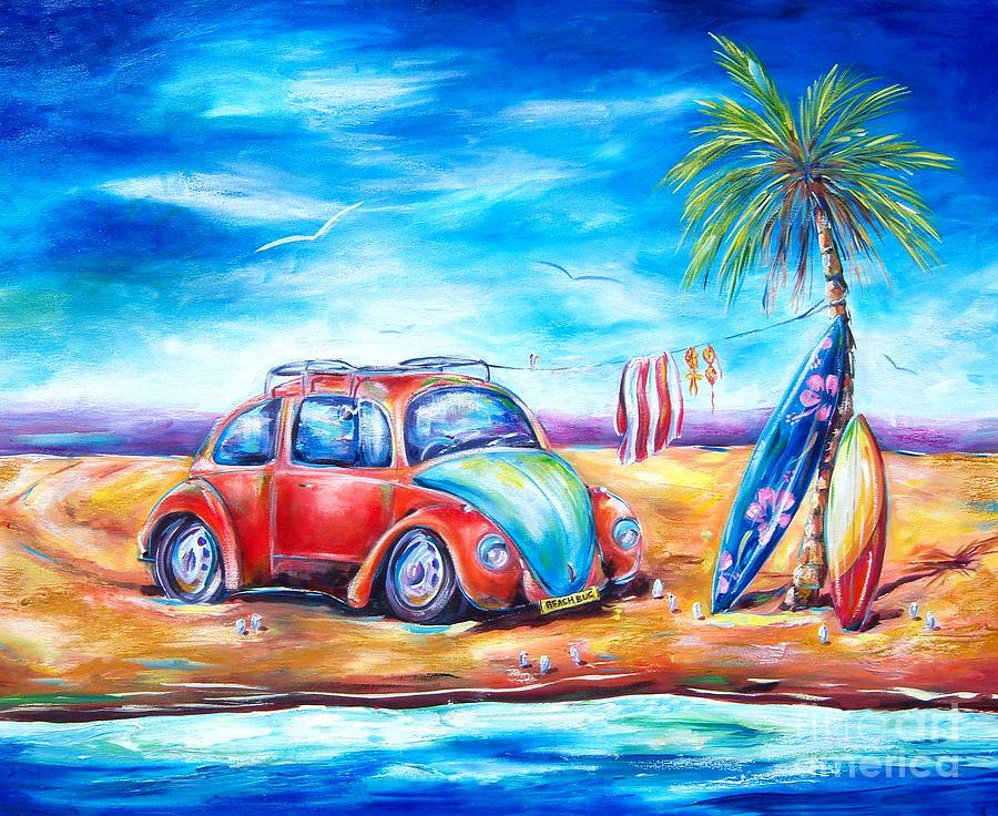 Beach Bug Painting By Deb Broughton