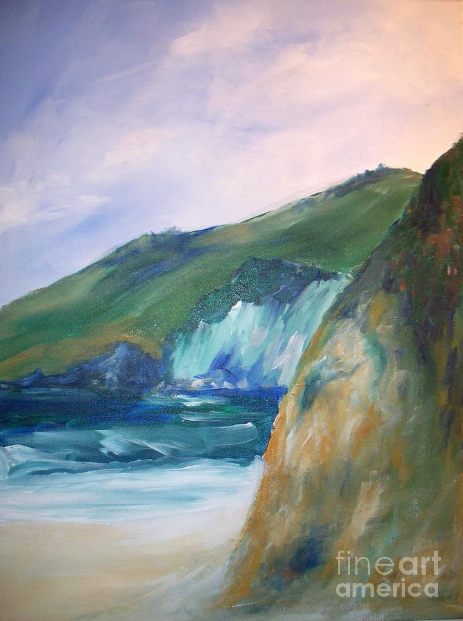 Beach California Painting  - Beach California Fine Art Print