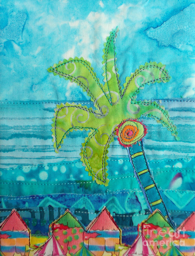 Palm Tree Painting - Beach Fest by Susan Rienzo