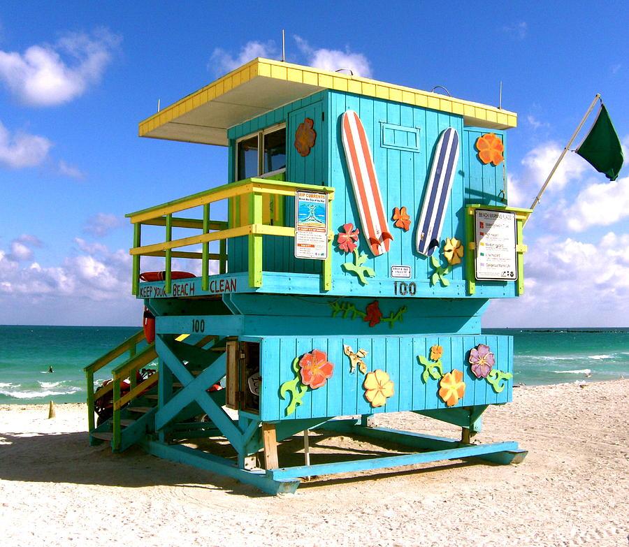 Beach Life In Miami South Beach Photograph