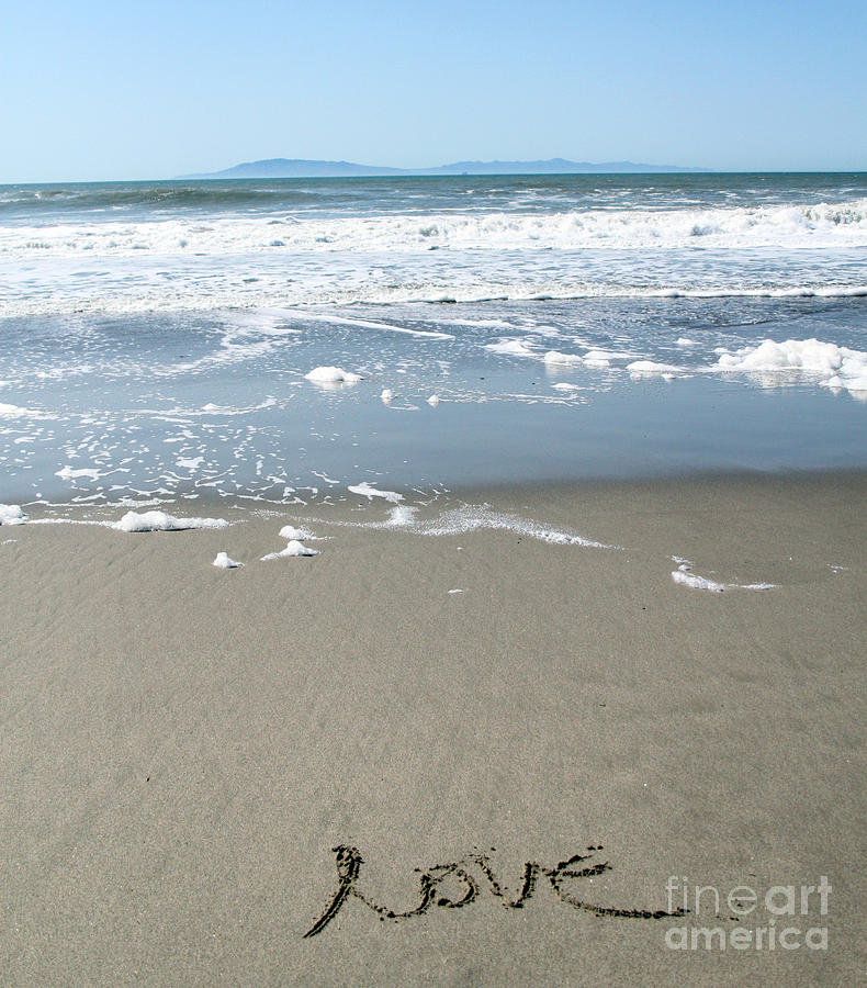 Beach Love Photograph  - Beach Love Fine Art Print