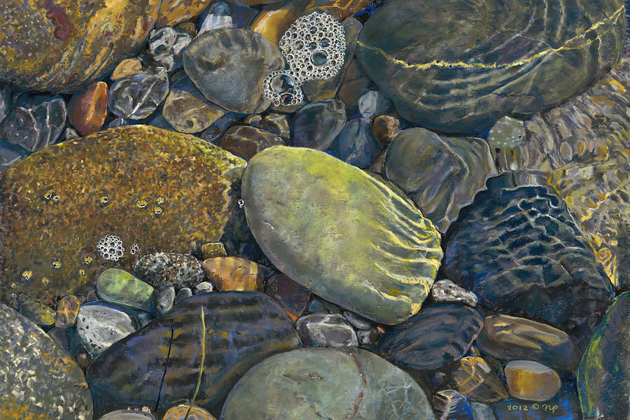 Beach Rocks 5 Painting  - Beach Rocks 5 Fine Art Print